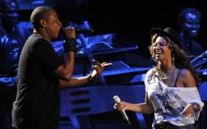 Бейонсе и Джей Зи на сцене