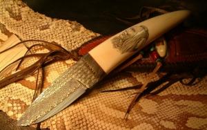 Индейский нож ручной работы