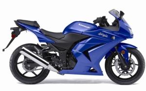 Синий Kawasaki Ninja