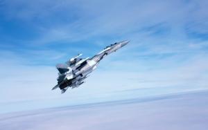 Военный самолет Су-35