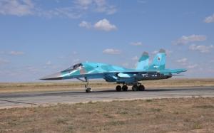 Су-34 на взлетной полосе