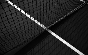Теннисный корт и сетка