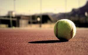 Теннисный мяч на харде