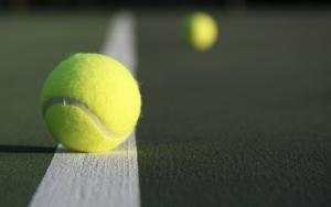 Красивый теннисный мяч