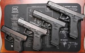 Пистолеты Glock 26, 19, 17 и 34