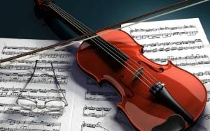 Скрипка со смычком