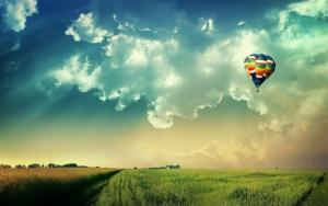 Красивый воздушный шар