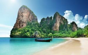 Пляж на райском острове
