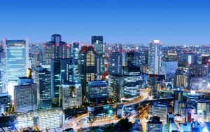Осака вид на город