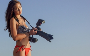 Девушка профи фотограф