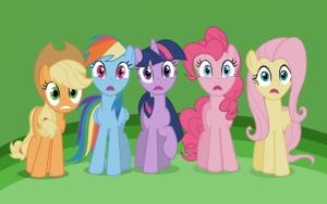 Удивленные пони