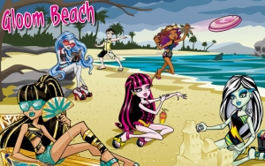 Монстр Хай на пляже