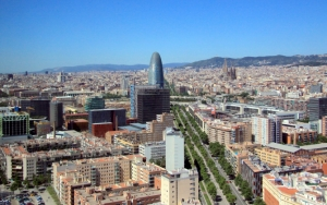Барселона вид сверху