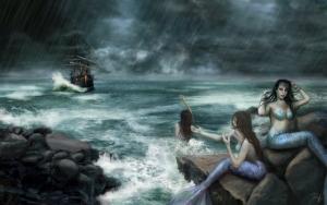 Русалки манят моряков