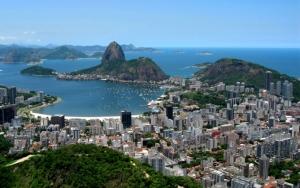 Вид сверху на Рио де Жанейро