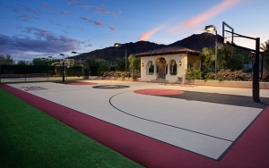 Баскетбольная площадка дома