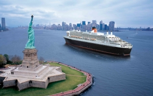 Queen Mary 2 в Нью-Йорке