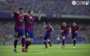 Барселона празднует гол в FIFA 14