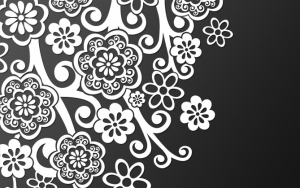 Черно-белые абстрактные цветы