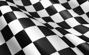 Черно-белый клетчатый флаг