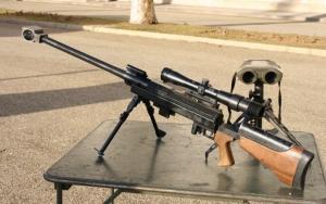 Снайперская винтовка на стрельбище