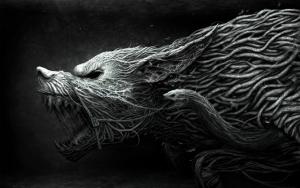 Готичный волк