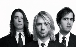 Nirvana черно-белое фото