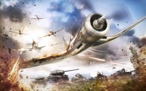 World of Warplanes бой с танками