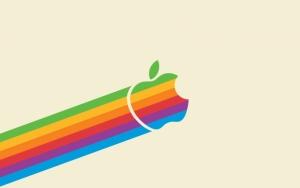 Apple разноцветный логотип