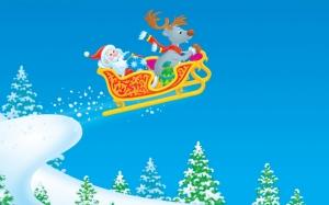 Рисованный Санта Клаус