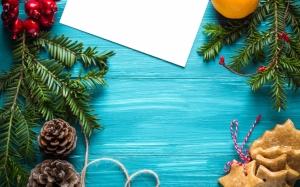 Синий фон на Новый год