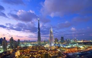Вид на вечерний Дубай