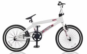 Белый велосипед bmx