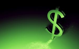 Знак зеленого доллара