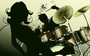 Силуэт барабанщика