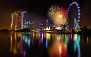 Фейерверк в Сингапуре