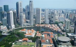 Сингапур вид на город