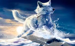 Фэнтези белый волк