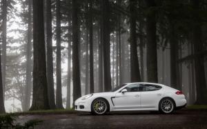 Белый Porsche Panamera