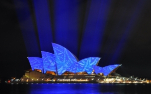 Sydney Opera House ночью