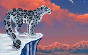 Рисунок снежного барса