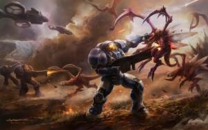 Starcraft 2 Терраны против Зергов