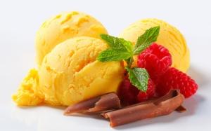 Желтое мороженое