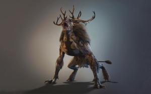 The Witcher 3 Волколак с рогами