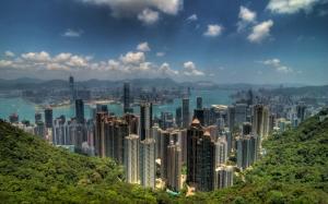 Вид с горы на Гонконг