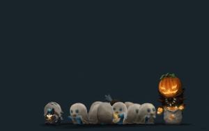 Хэллоуин маленькие привидения