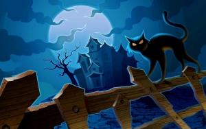 Замок и черный кот