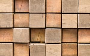 Деревянные кубы