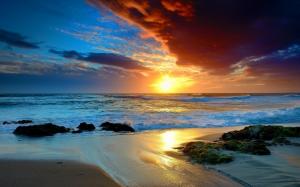 Море, облака и закат