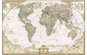 Карта мира National Geographic
